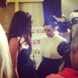 Backstage at Avril Lavigne's fashion show with the Kardashians