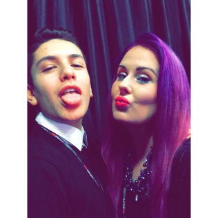 Backstage in Boston with @Lohanthony