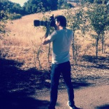 On set in Calabasas with Brian Doherty