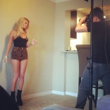 On set with Chanel West Coast & Rick Craft