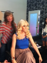 On set with Jenny Mccarthy