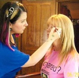 doing Kathie Lee Gifford's makeup
